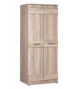 2 deurs kledingkast - Donker grijs hout - Storm