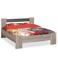 BEUK Bedframe 180x220 - Donker grijs hout - Baarle-Nassau | incl. middenbalk