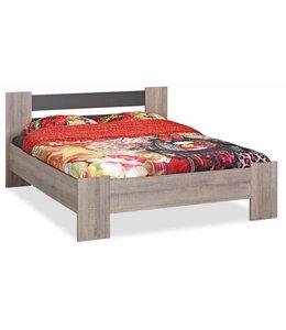 BEUK Bedframe 160x220 - Donker grijs hout - Baarle-Nassau