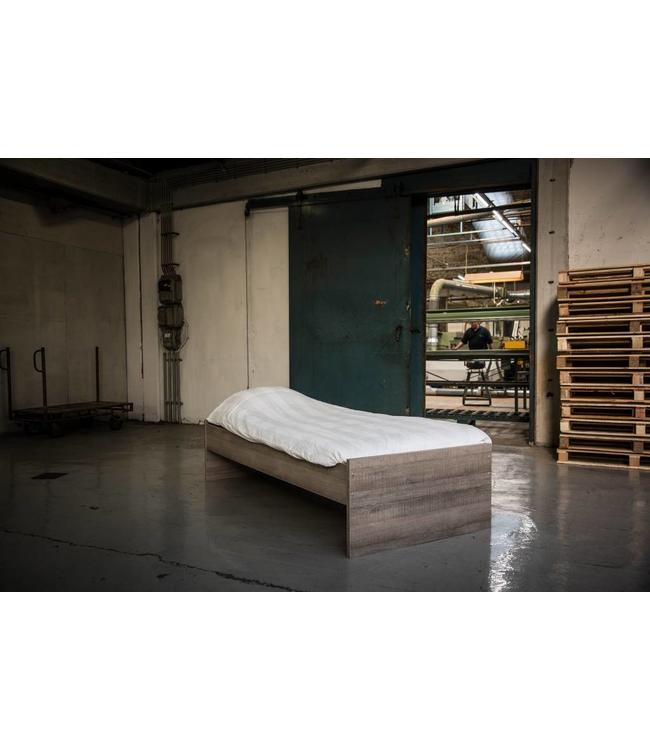 BEUK Bedframe 90X220 cm - Donker Grijs Hout – Budel