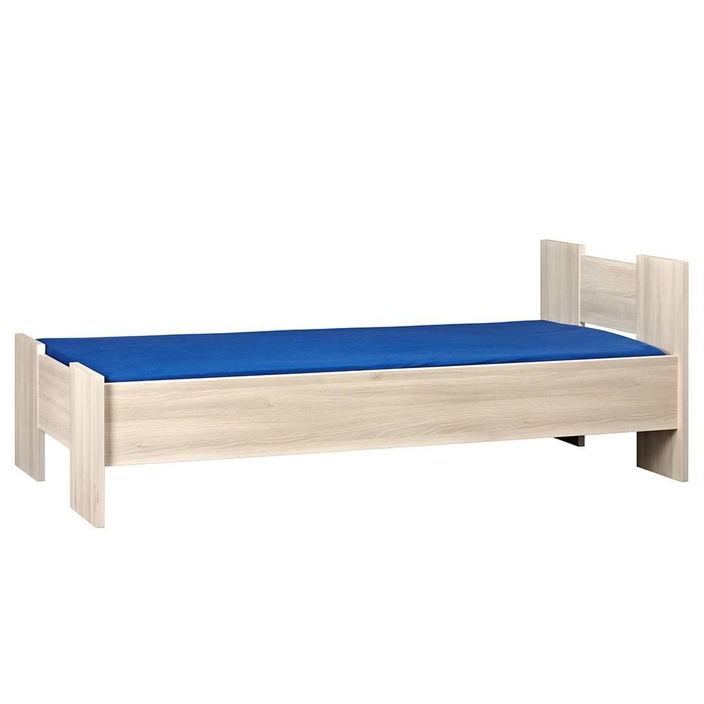 BEUK Bedframe 160X200 cm - incl middenbalk - Licht Hout - Wouw
