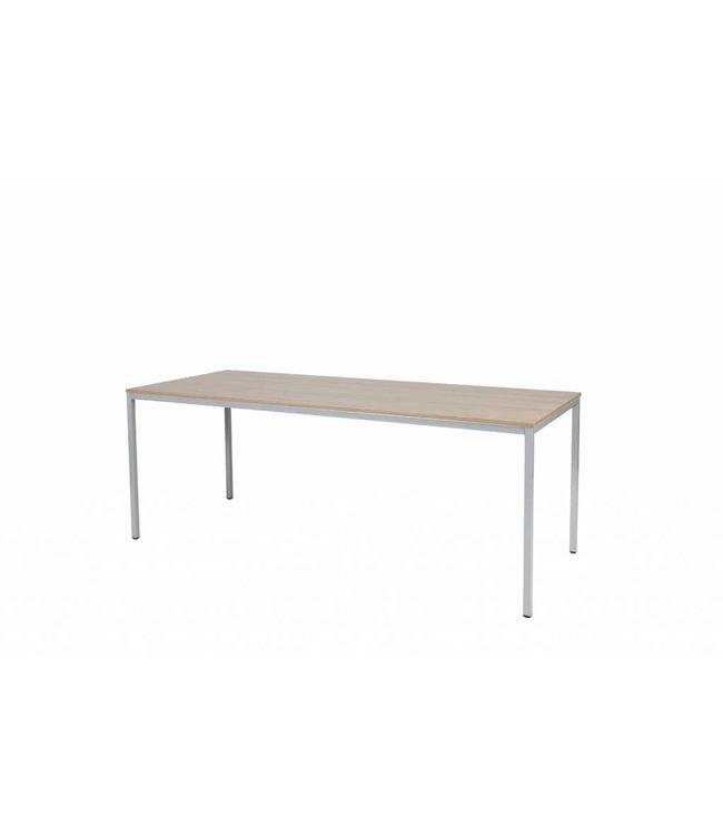 BEUK Bureautafel - Nebreska Eiken - Alu Frame - 200x80