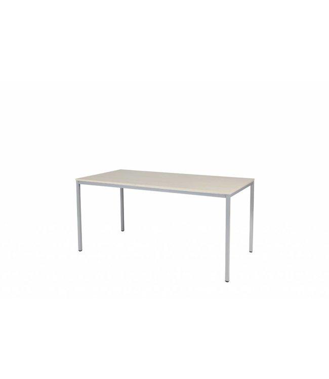 BEUK Bureautafel - Licht Hout - Alu Frame - 120x60