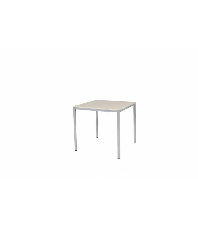 BEUK Bureautafel - Licht Hout - Alu Frame - 80x80