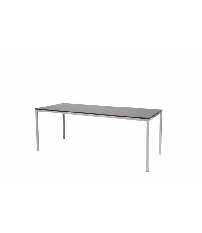 BEUK Bureautafel - Zwart - Alu Frame - 200x80