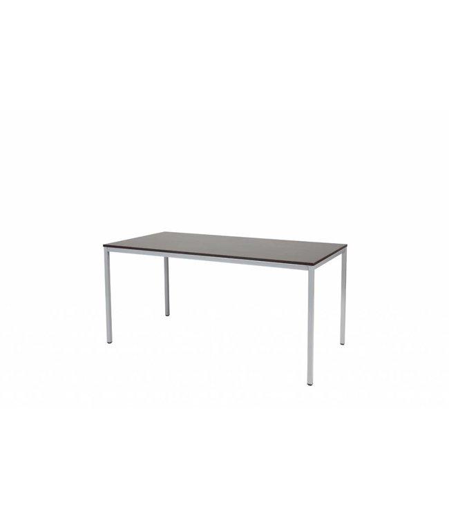 BEUK Bureautafel - Zwart - Alu Frame - 120x60