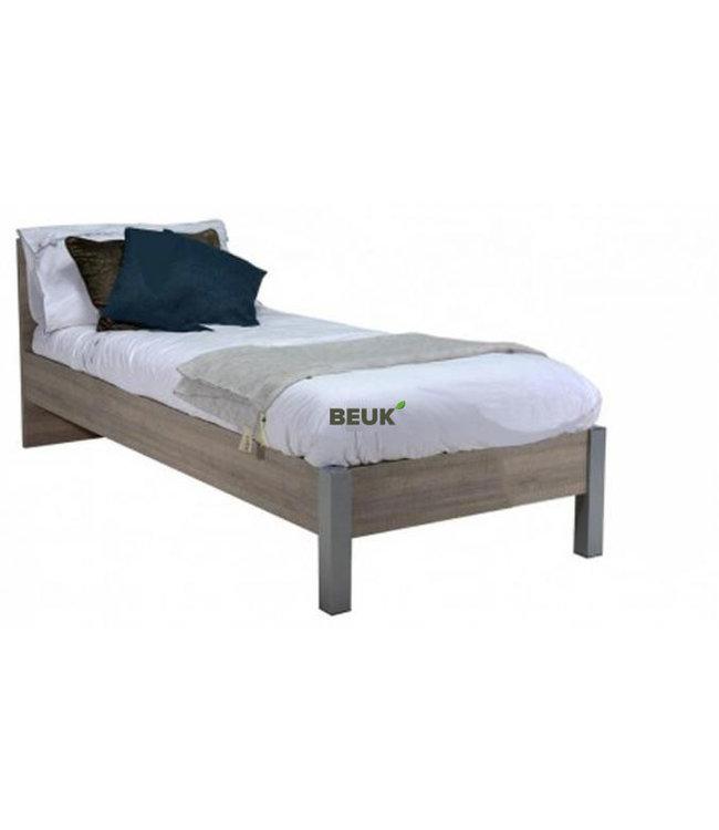 BEUK Bedframe 90X200 cm - Donker Grijs Hout - Best