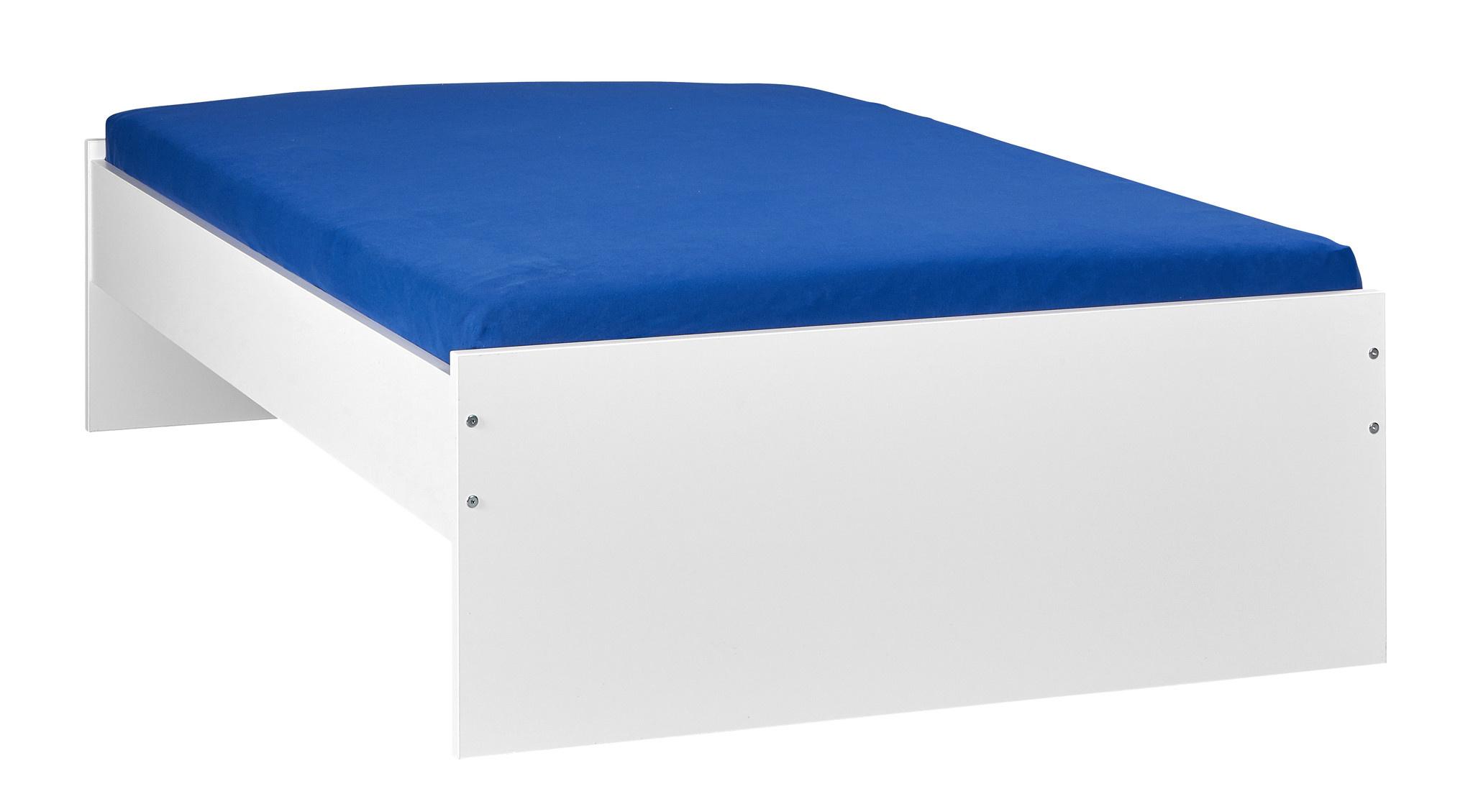 BEUK Bedframe 160x220 - Wit - Incl Middenbalk - Budel
