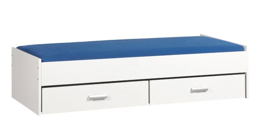 BEUK Bed met opbergruimte | 90x200 | Wit | Inclusief witte lades |  2 stuks 90cm diep