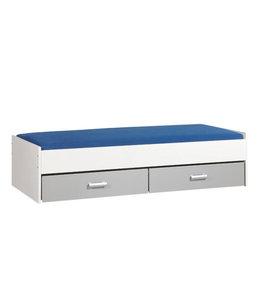 BEUK Bed met opbergruimte | 90x200 | Wit | Inclusief aluminium lades |  2 stuks 90cm diep