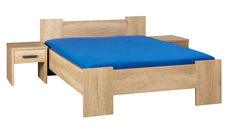 BEUK Bedframe 160x220 cm - Incl Middenbalk - Nebreska Eiken - Wouw