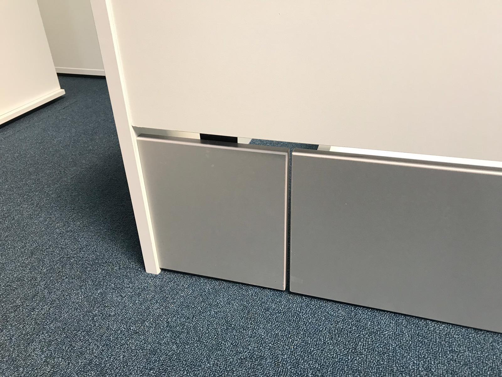 Tussenstuk Bed - aluminium - t.b.v. vulling laden - 210 cm