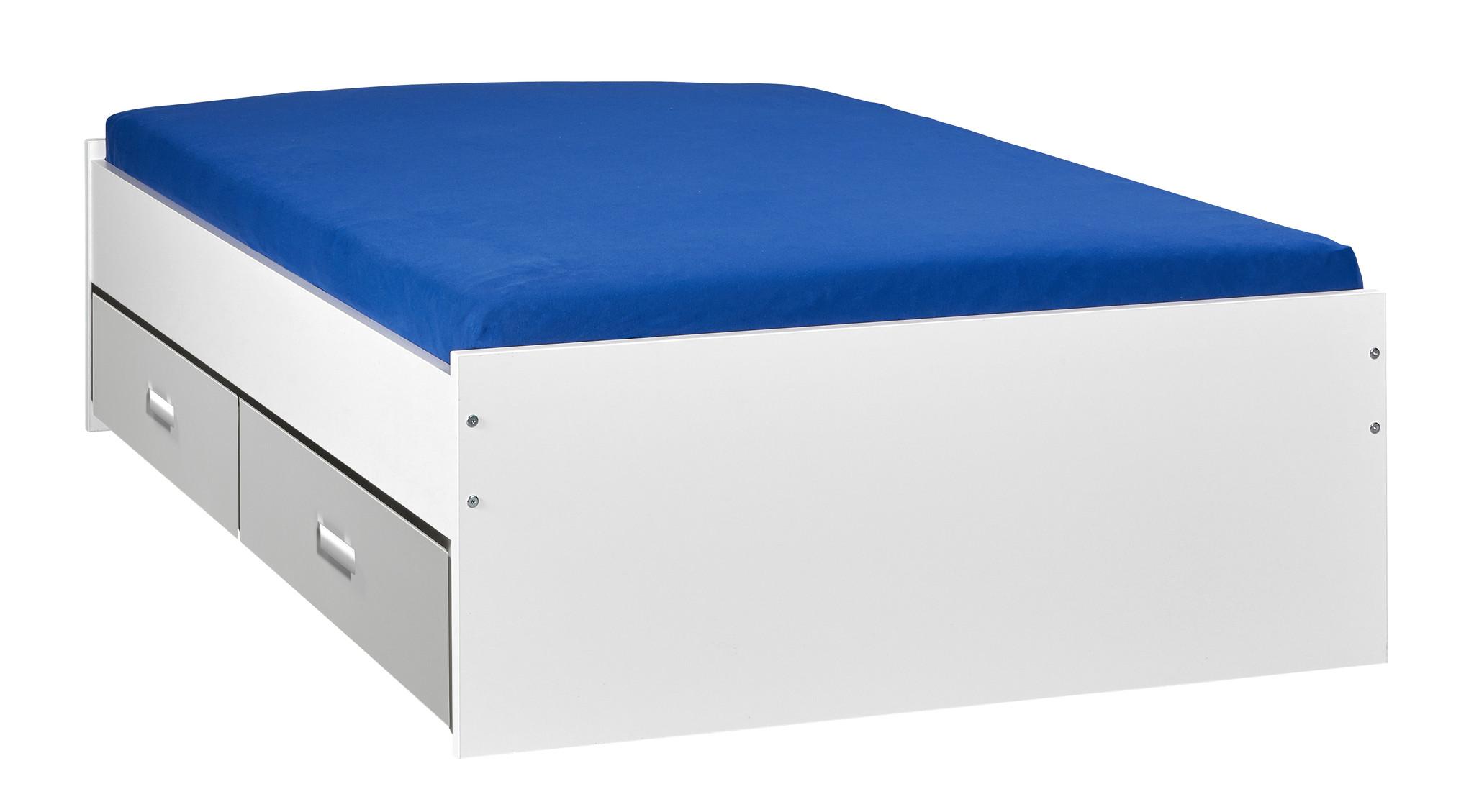 BEUK Bed met opbergruimte | 120x200 | Wit | Inclusief aluminium lades | 4 stuks 60cm diep