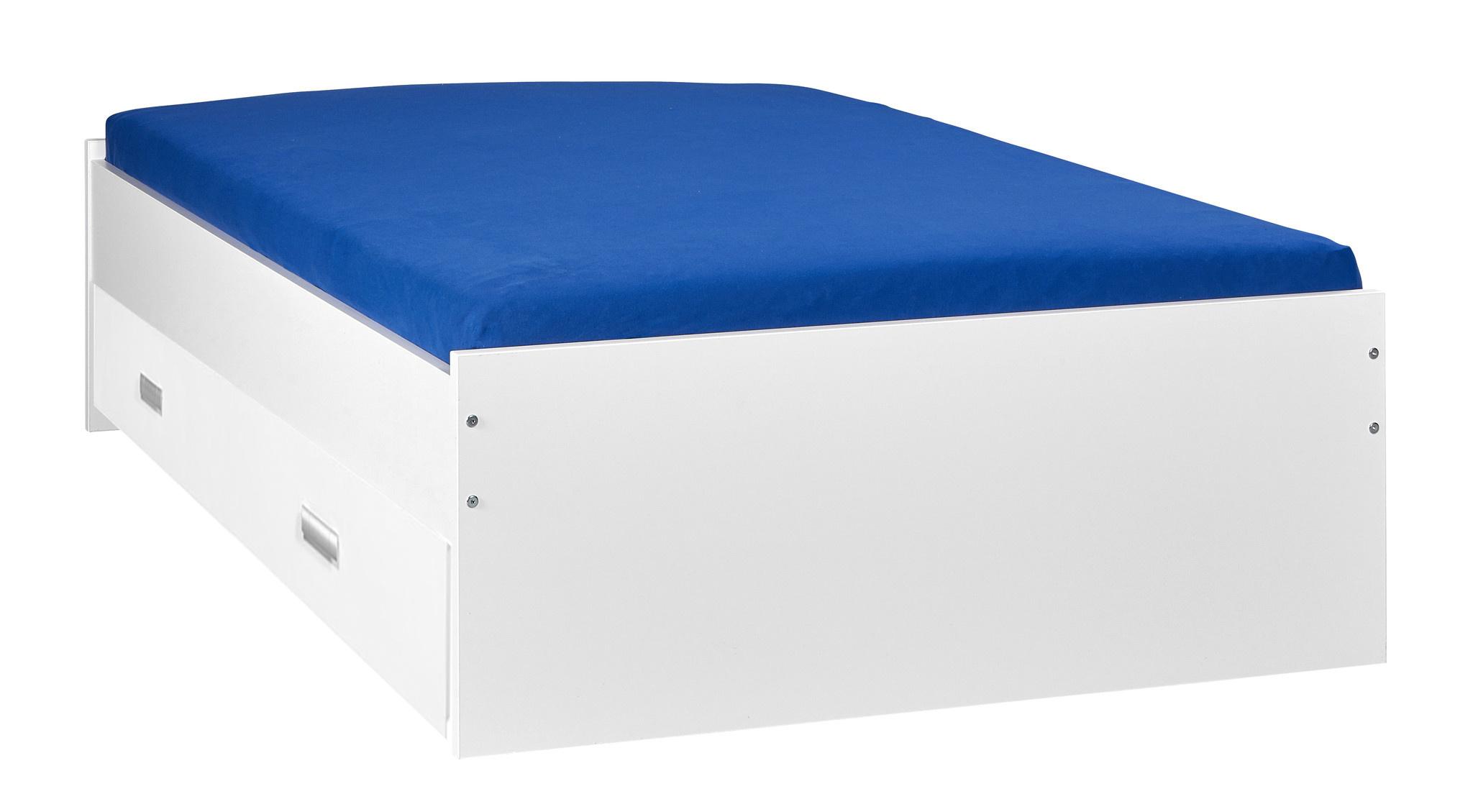 BEUK Bed met opbergruimte | 180x200 | Wit | Inclusief witte lade (196x83CM)