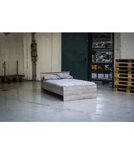 BEUK Bedframe 120X200 cm  - Donker Grijs Hout -  Bavel