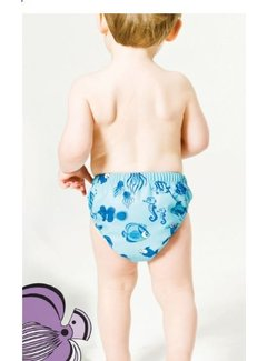 Smafolk Smafolk Zwembroek Baby pants. Fishes Air Blue
