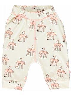 Smafolk Smafolk Jersey pants with flamingos, 3/4 length