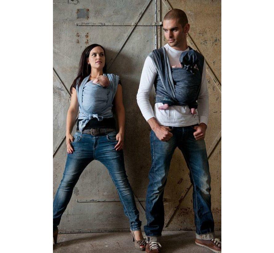 ByKay denim Dark Jeans geweven draagdoek.