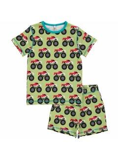 Maxomorra Pyjama set SS MONSTER TRUCK