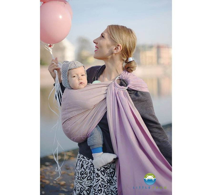 Little Frog Lilac Heartbeat  ring sling.