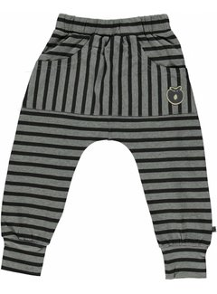 Smafolk Pants with stripes and apple logo
