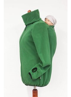 Angel Wings  Fleece cardigan for babywearing green