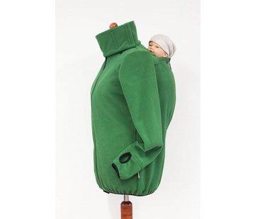 Angel Wings  Fleece cardigan for babywearing green