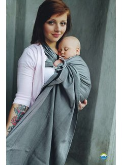 Little Frog Little Frog Graphite Herringbone ring sling