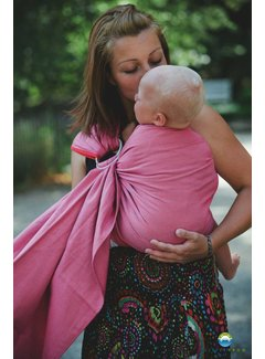 Little Frog Little Frog Raspberry Herringbone ring sling