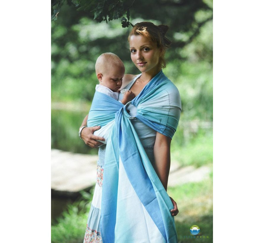 Little Frog Bamboo Euclase ring sling.