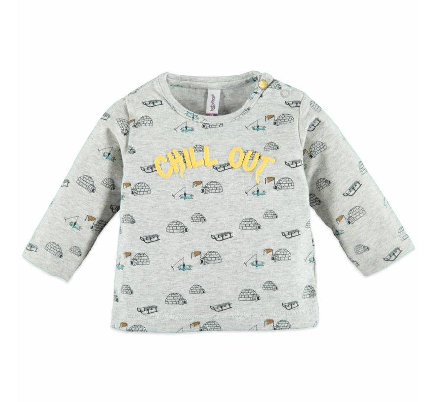 Babyface COOL GREY MELEEbaby boys t-shirt l.sl..