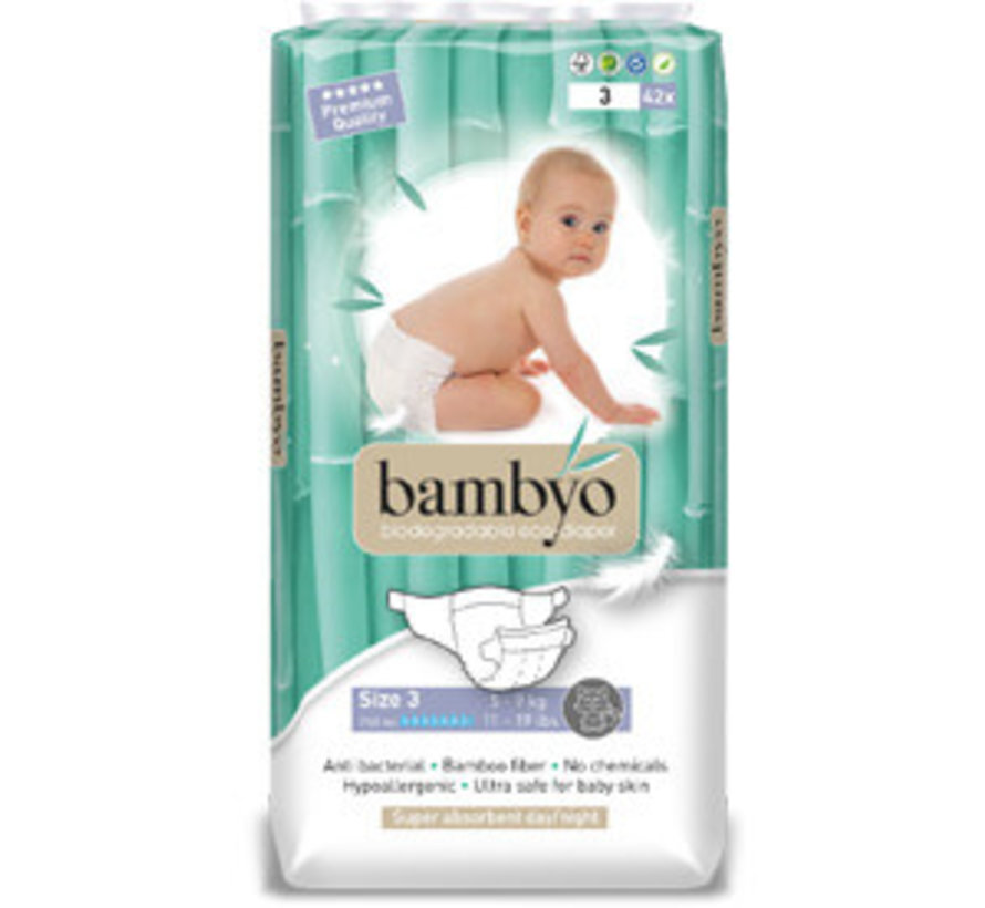 Bambyo diapers size 3