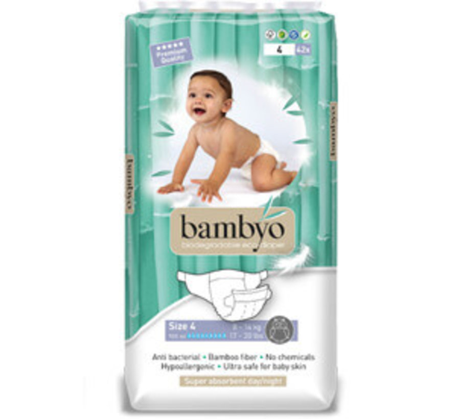 Bambyo diapers size 4