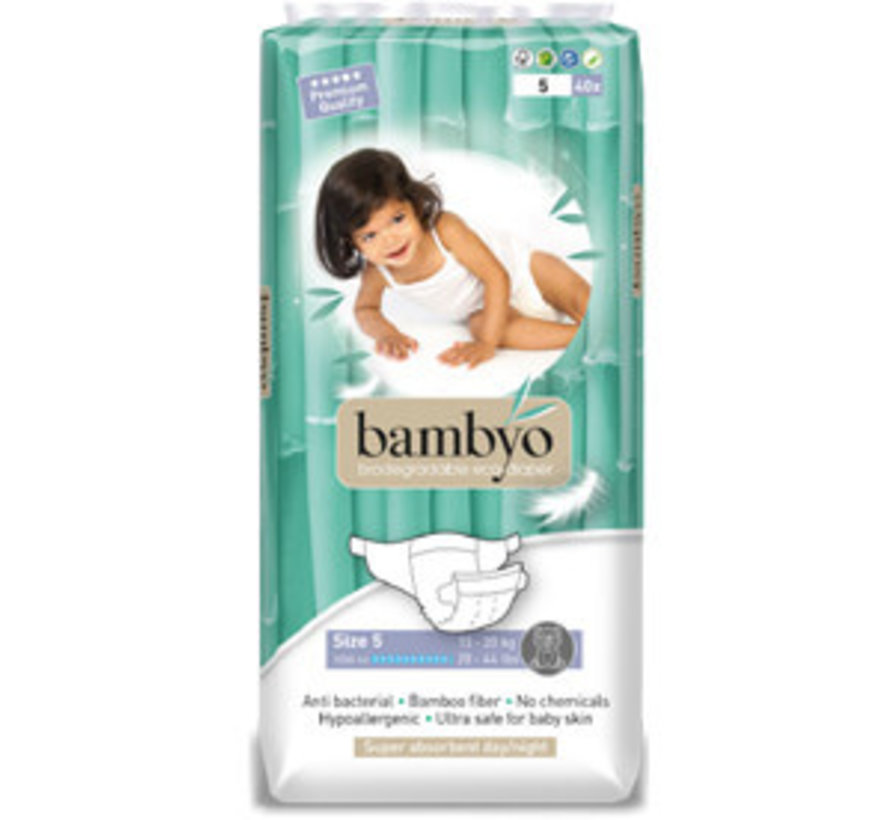 Bambyo diapers size 5