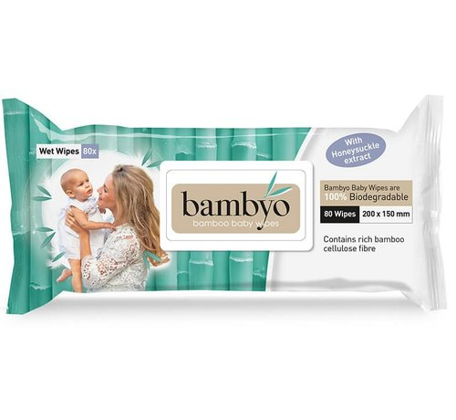 Bambyo Bambyo baby wipes for the skin and buttocks of your child.