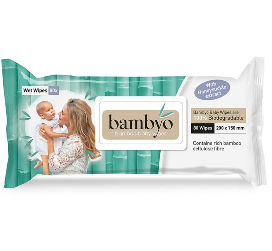 Bambyo baby wipes for the skin and buttocks of your child.
