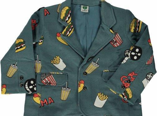 Smafolk Smafolk  Sweat blazer with cinema Bluestone