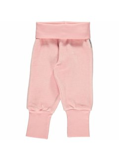 Maxomorra <h2>Maxomorra Pants Rib Velour Pink</h2>