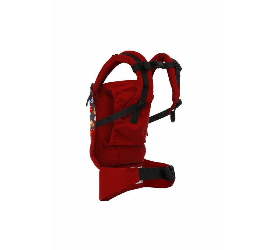 Tula Look For Helpers carrier, easy to use carrier for babywearing.