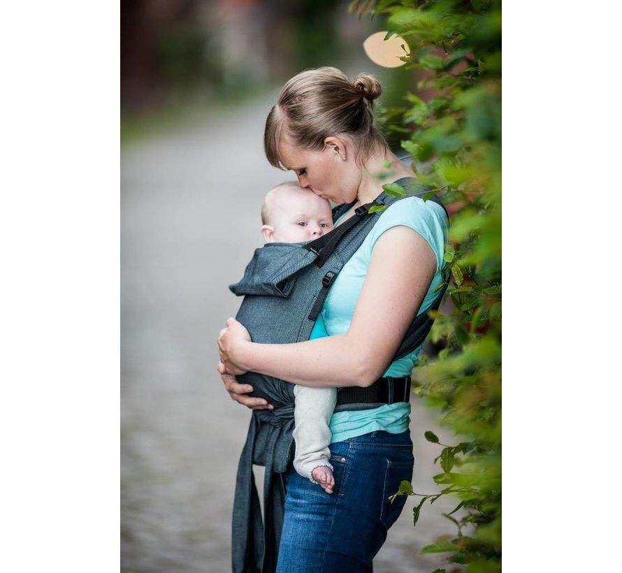 Storchenwiege Carrier Graphite Grey ergonomic baby carrier