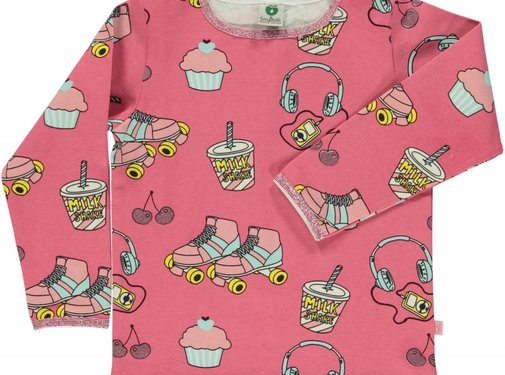 Smafolk Smafolk T-shirt with rollerblade Rapture Rose