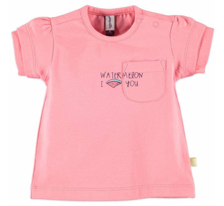 Babyface baby  t-shirt korte mouw  PINK MELON
