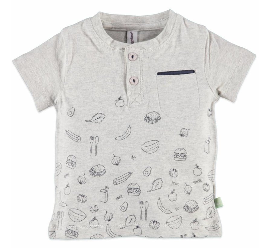 Babyface baby  t-shirt korte mouw  COOL GREY MELEE