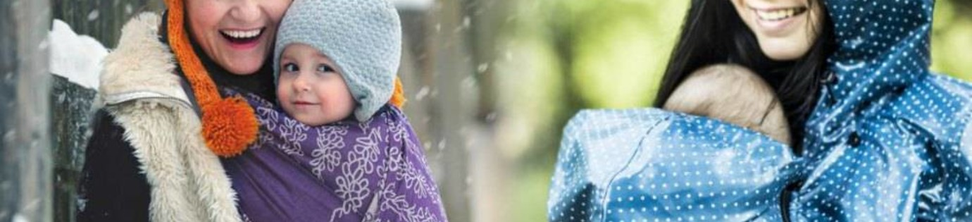 Je kindje dragen in de winter kou en slecht weer