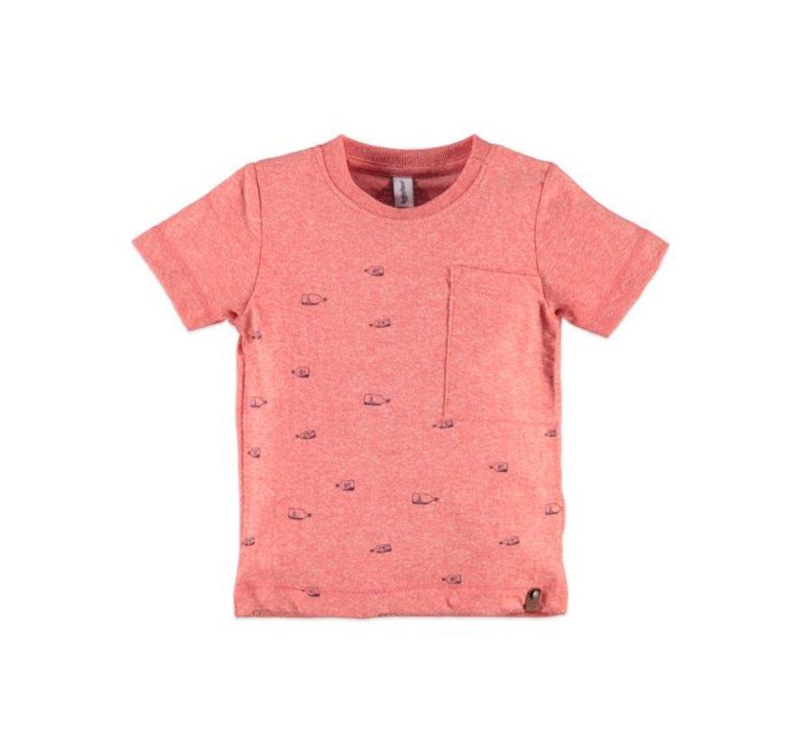 Babyface  t-shirt korte mouw  GRAPEFRUIT MELEE