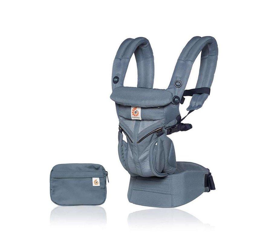 Babydraagzak 4P Omni 360 Air Mesh Oxford Blu