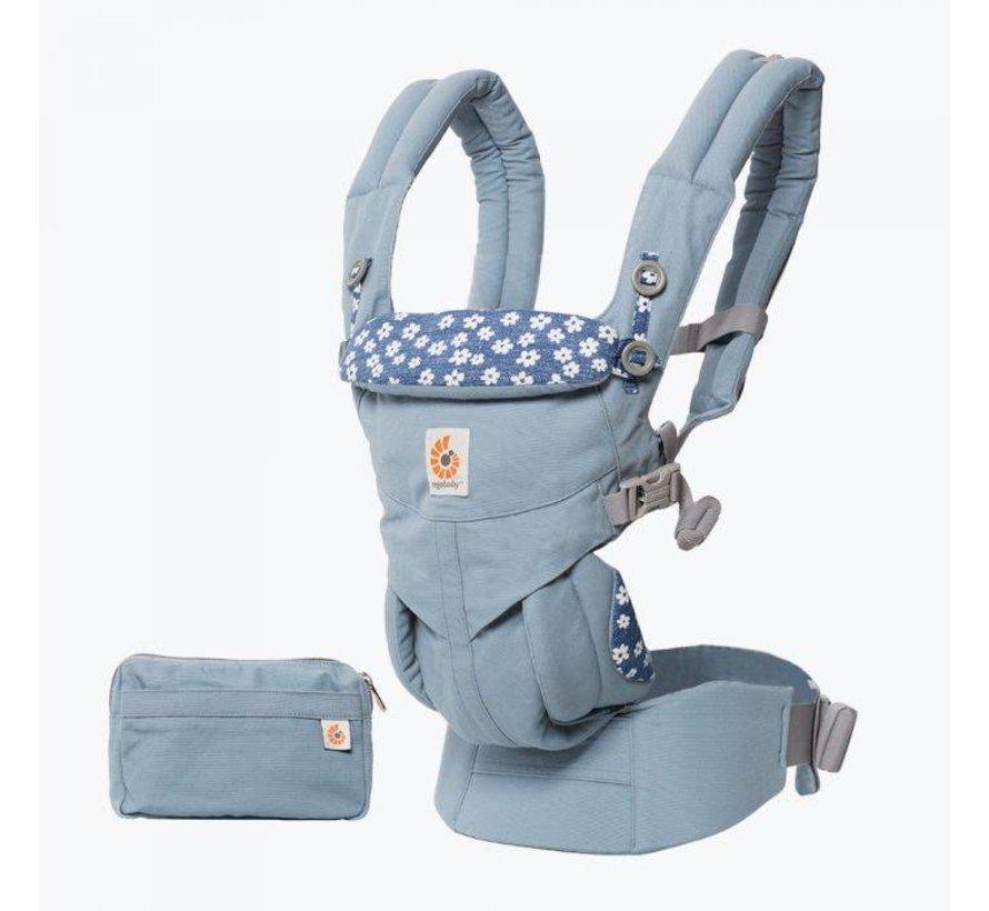 Babydraagzak 4P Omni 360 Blue Daisies