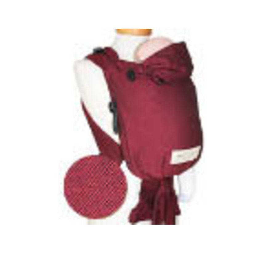Storchenwiege carrier Bordeaux , diep rode drager van draagdoekenstof.