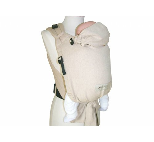 Storchenwiege Storchenwiege carrier Natur , light baby carrier from sling fabric.