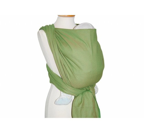 Storchenwiege Woven wrap Storchenwiege Leo green, 100% cotton woven wrap.